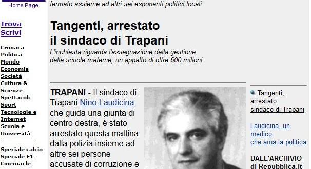 Repubblica: Arrestato Nino Laudicina